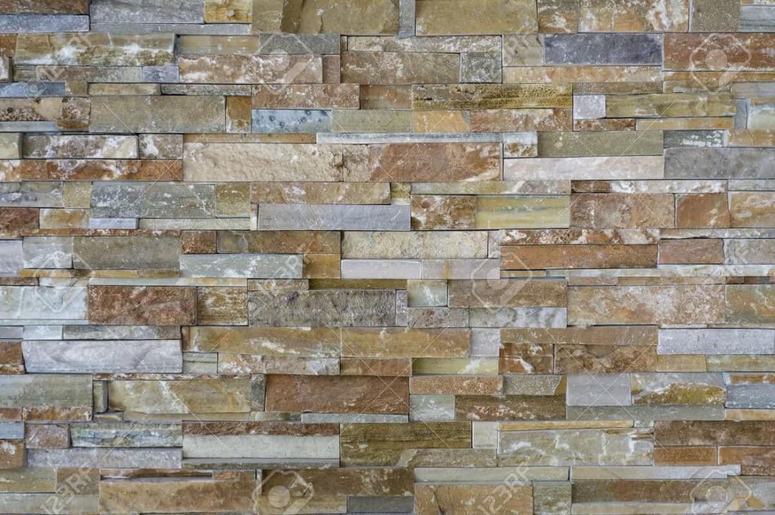 62836025 patr n de piezas de piedra natural azulejos para - Pared de piedra interior ...